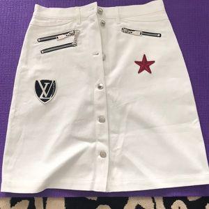 Louis Vuitton denim skirt